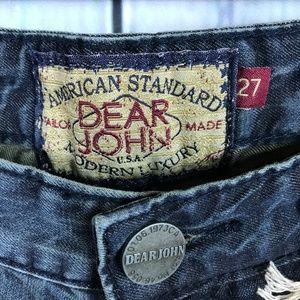Dear John Jeans - Dear John 27 NWT Jesse Boyfriend Jeans Distressed